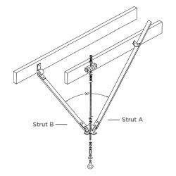 Wood Joint Installation Kit (Drop 75 to 150cm)