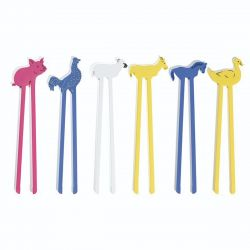 Animal Sticks – Farm (Set of 6)