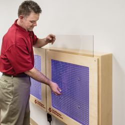 Interactive Marble Panel with Cover